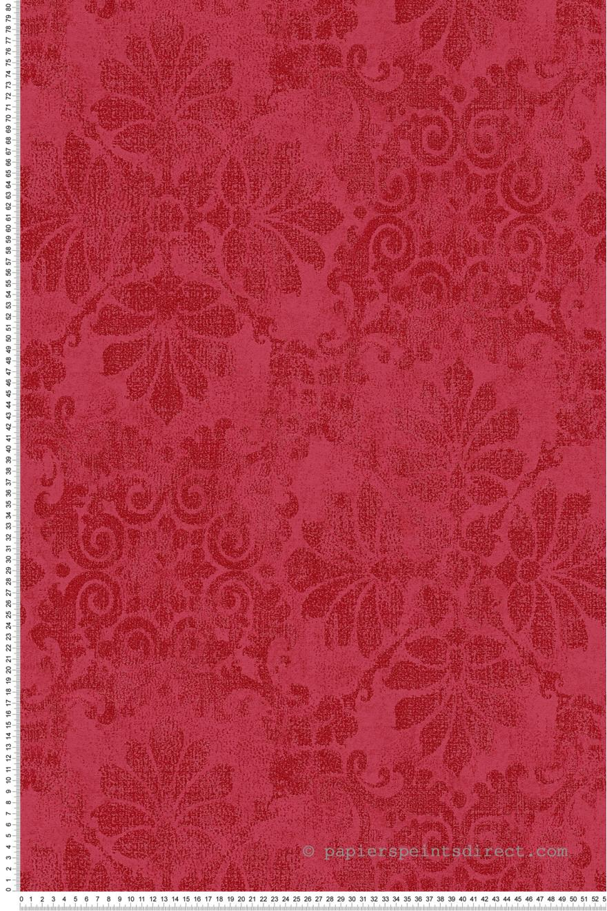 Papier Peint Oriental Baroque Paillette Rouge Memory 3 As Creation
