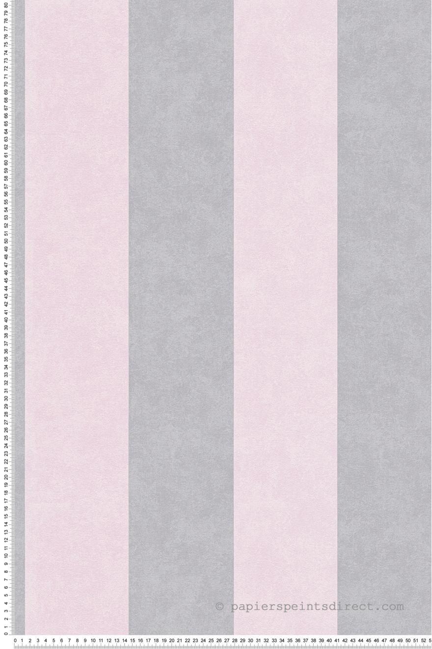 Papier Peint Rayures Rose Pale Argent Memory 3 As Creation Ref