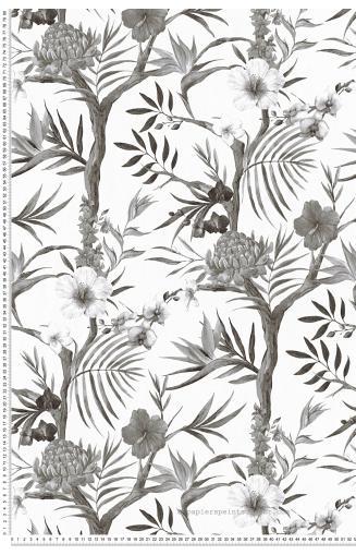 Papier Peint Jungle Noir Et Blanc Papierspeintsdirect