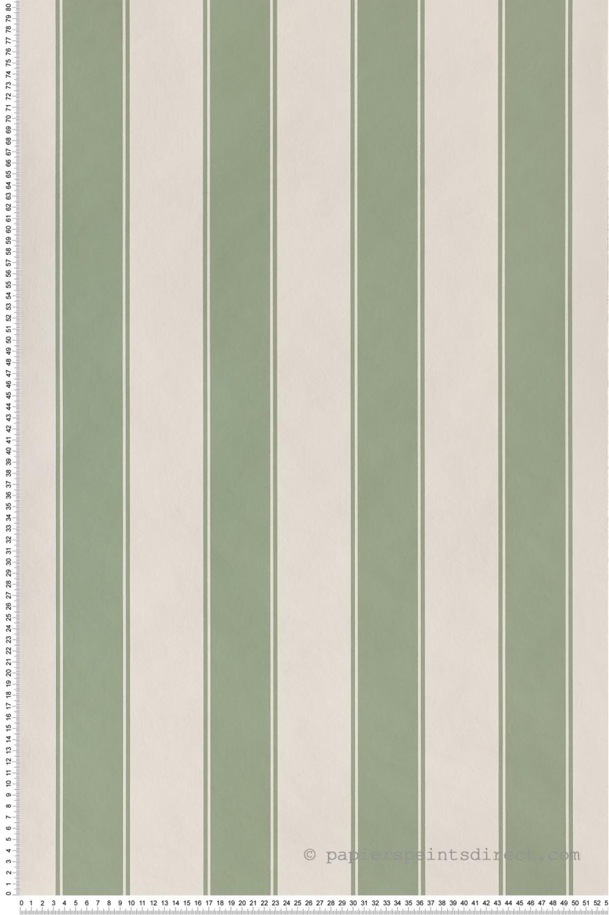 Papier Peint Rayures Larges Vert Olive Nordik Stripes De