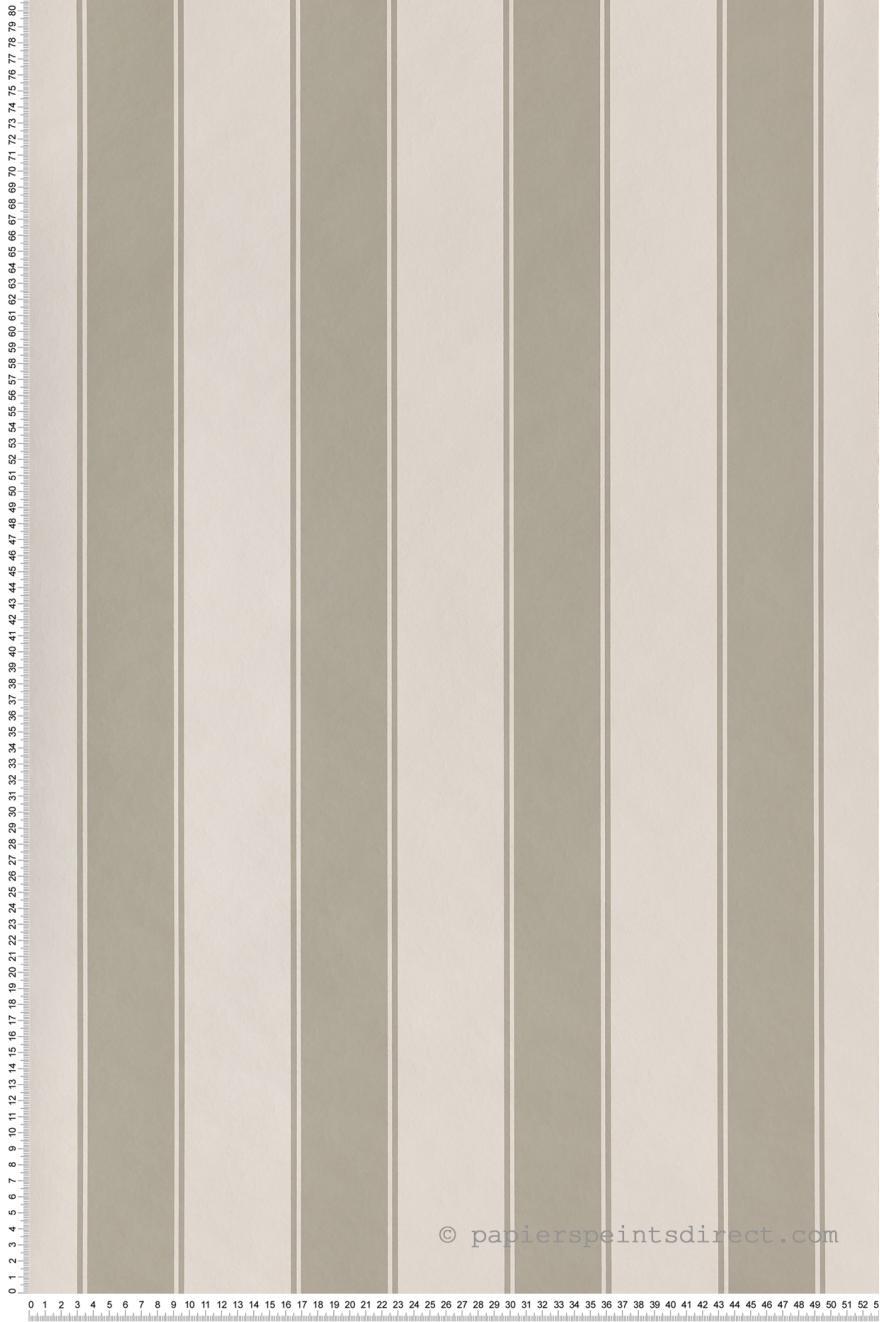 Papier Peint Rayures Larges Gris Grege Nordik Stripes De