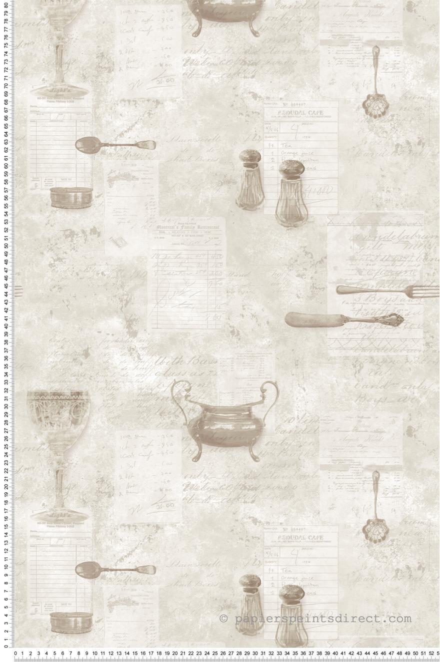 Papier Peint Salière beige - Nouvelle cuisine 5 de Lutèce | Réf. LTC ...