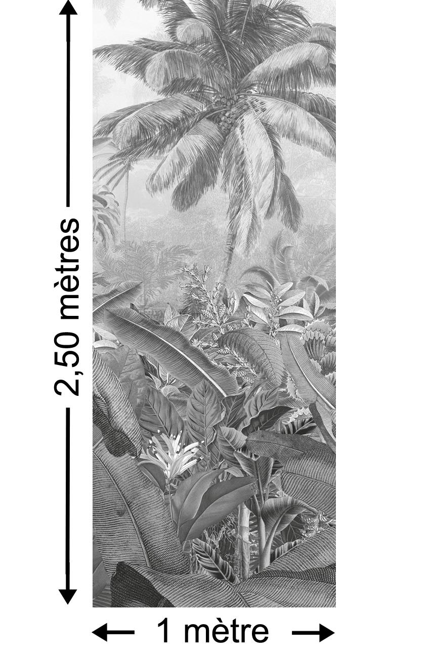 Papier peint jungle Amazonia Black and White Panel - Papier peint lé unique Komar