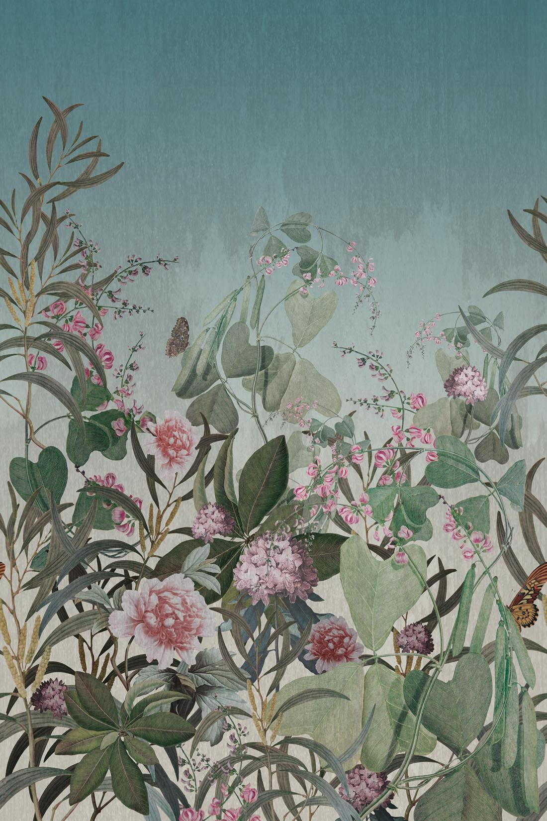 Papier peint papier peint la fresque f00398 magique de fleurs naturelles Magnolia Fleurs Plantes