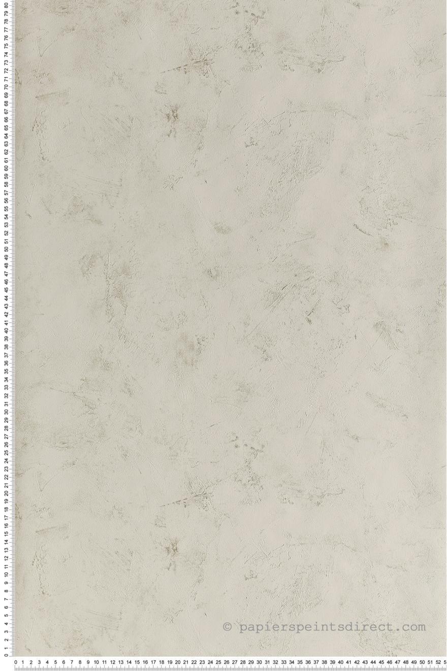 Papier Peint Effet Beton Blanc Argent Patine De Caselio