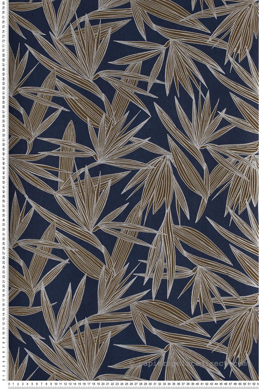 Papier Peint Alizarine Bleu Marine Portfolio De Casamance Ref