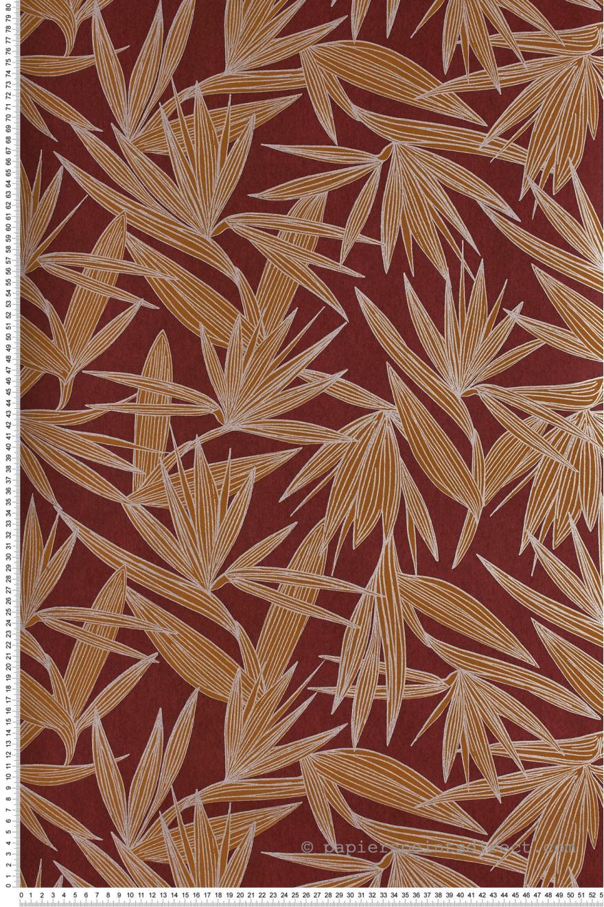 Papier Peint Alizarine bordeaux   Portfolio de Casamance | Réf