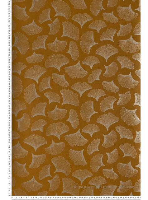 Papier Peint Ginkgo Bleu Marine Portfolio De Casamance Ref Cas