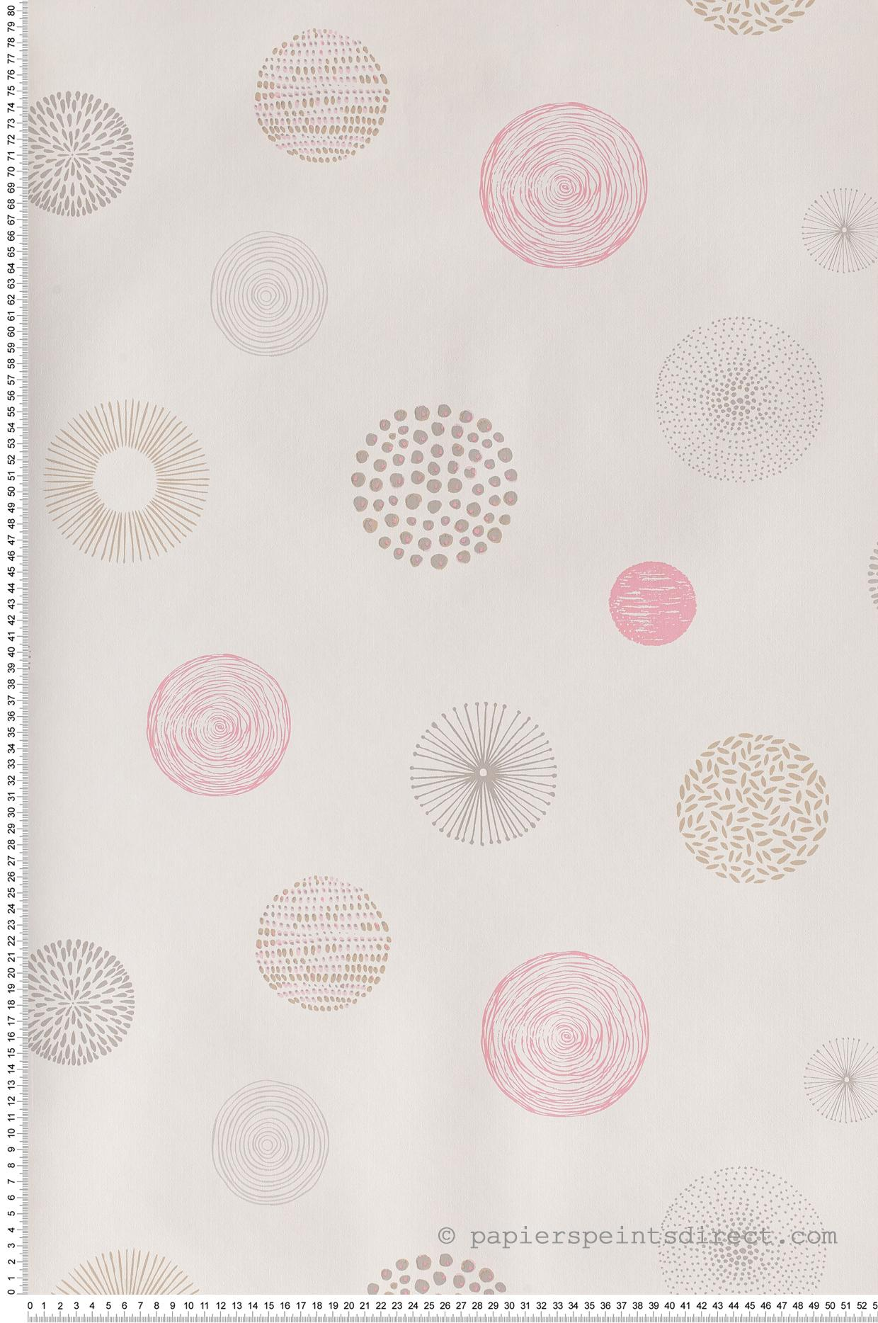 Cercles graf rose-beige - Collection Pretty Lili de Casélio