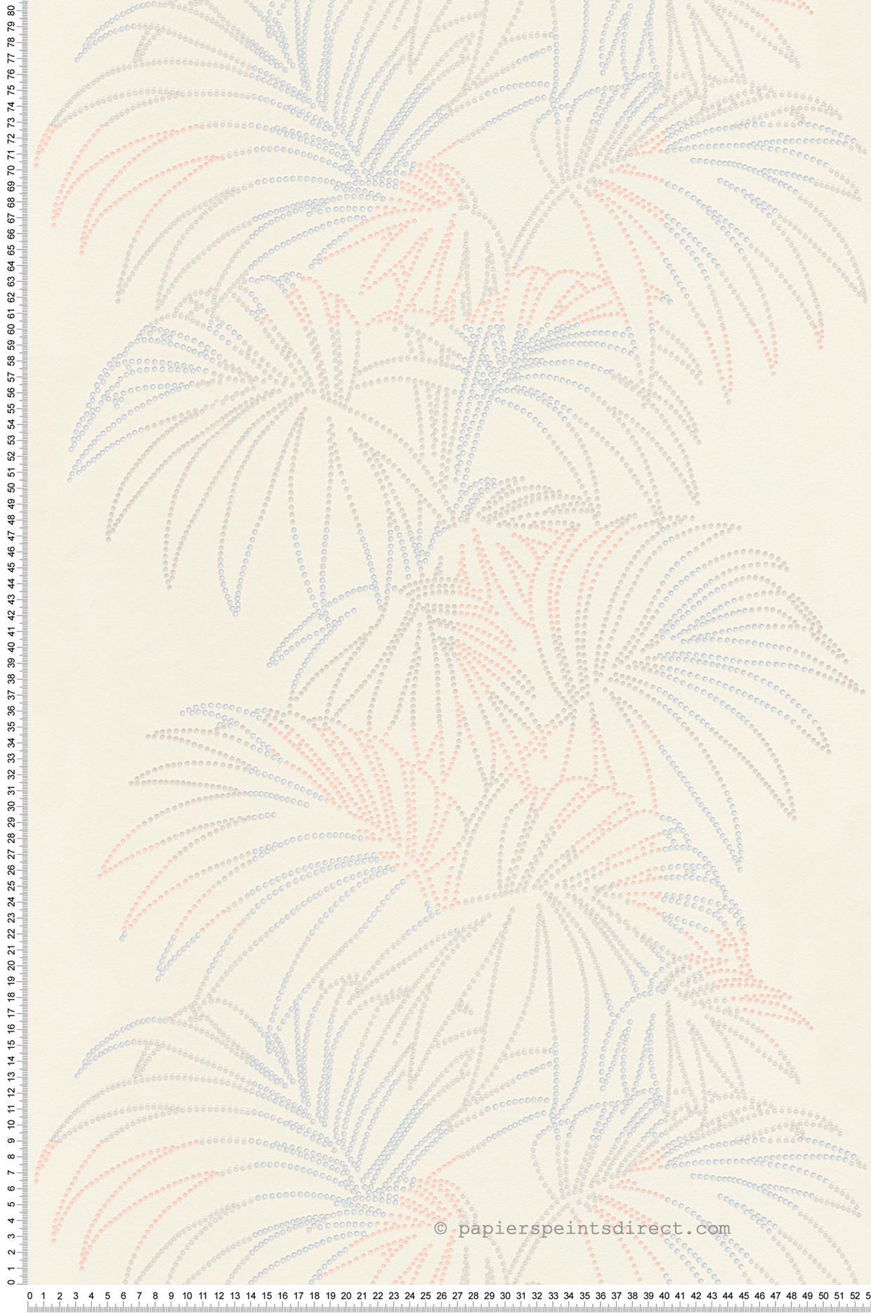 Papier Peint Palmier Pixel Argent Orange Reflection As Creation Ref Sp03716