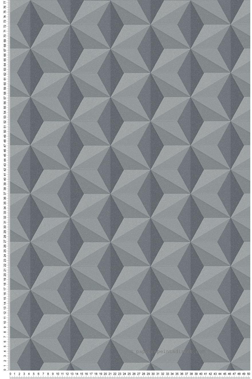 Papier Peint Motifs Geometriques Anthracite Noir Life 3 Et Life 4