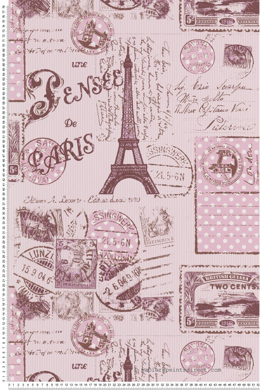 Papier Peint Pensée De Paris Vieux Rose Boys And Girls 5 As