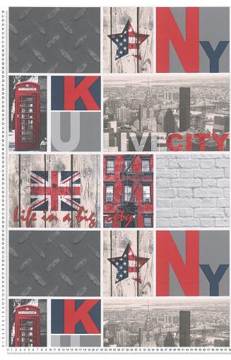 Papier peint New York AS CREATION   Papierspeintsdirect