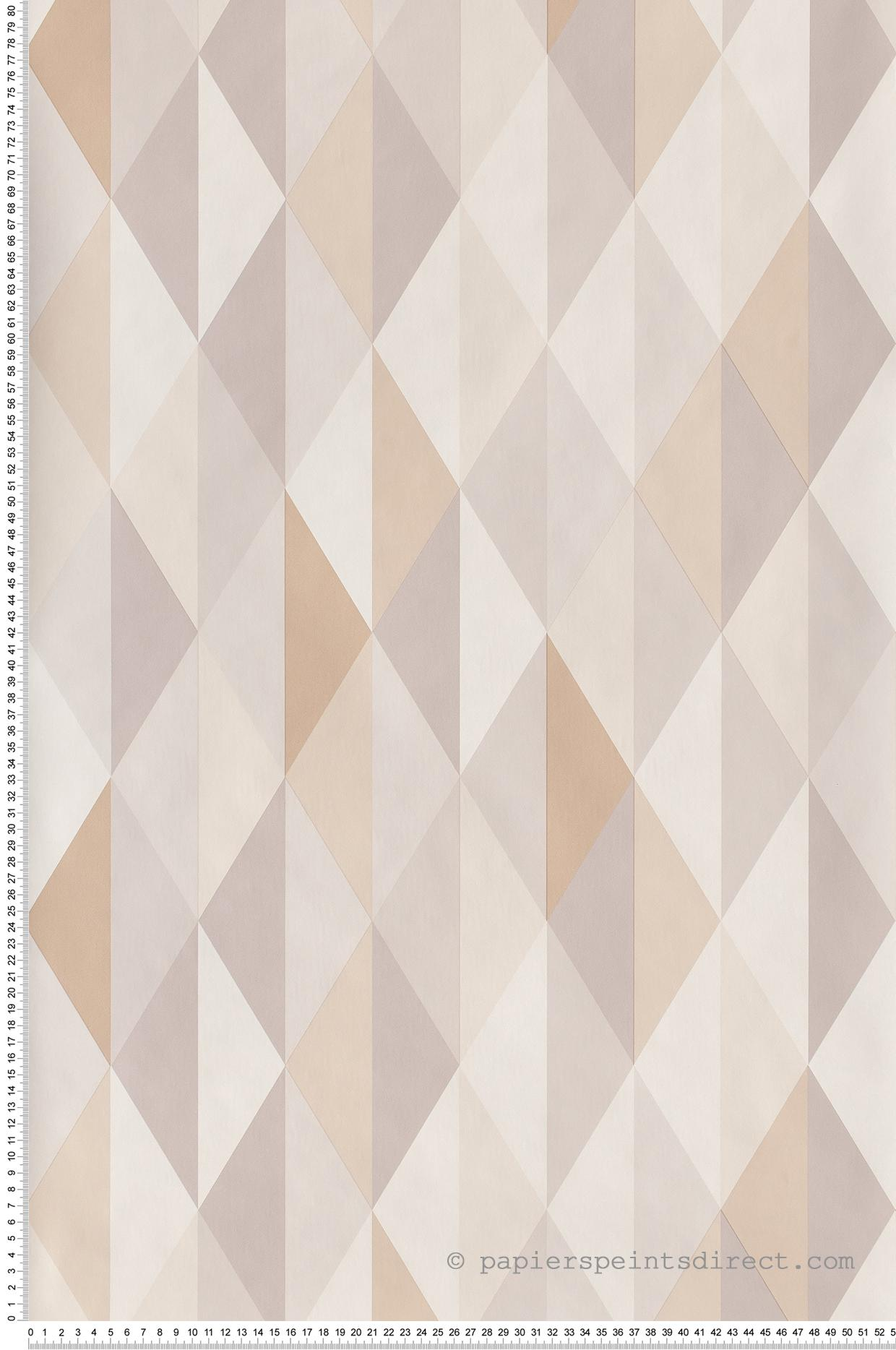 Papier peint Diamond gris beige - Spaces de Casélio | Réf. SPA100081015