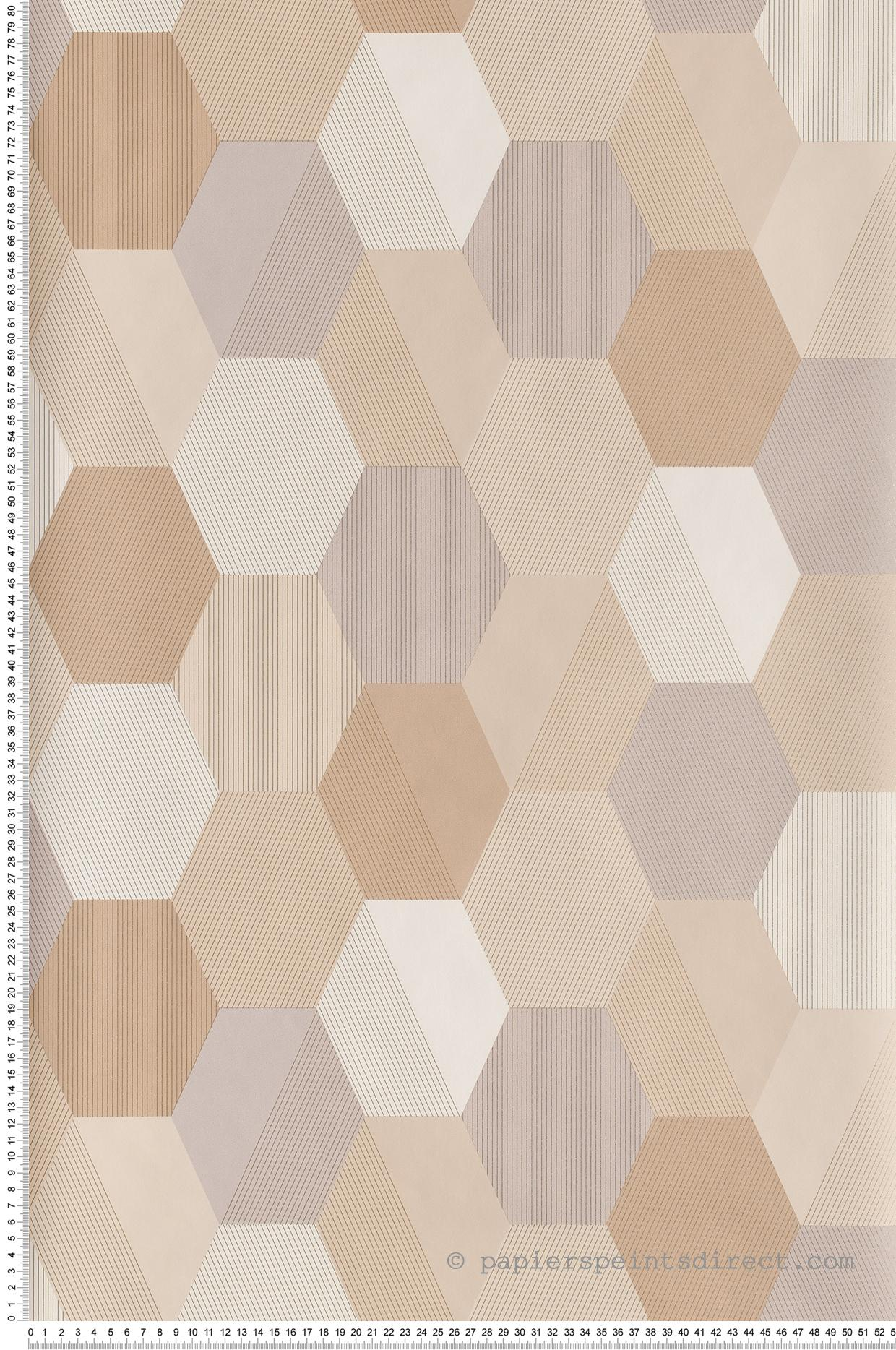 Papier peint Hexagon beige gris - Spaces de Casélio | Réf. SPA100101019
