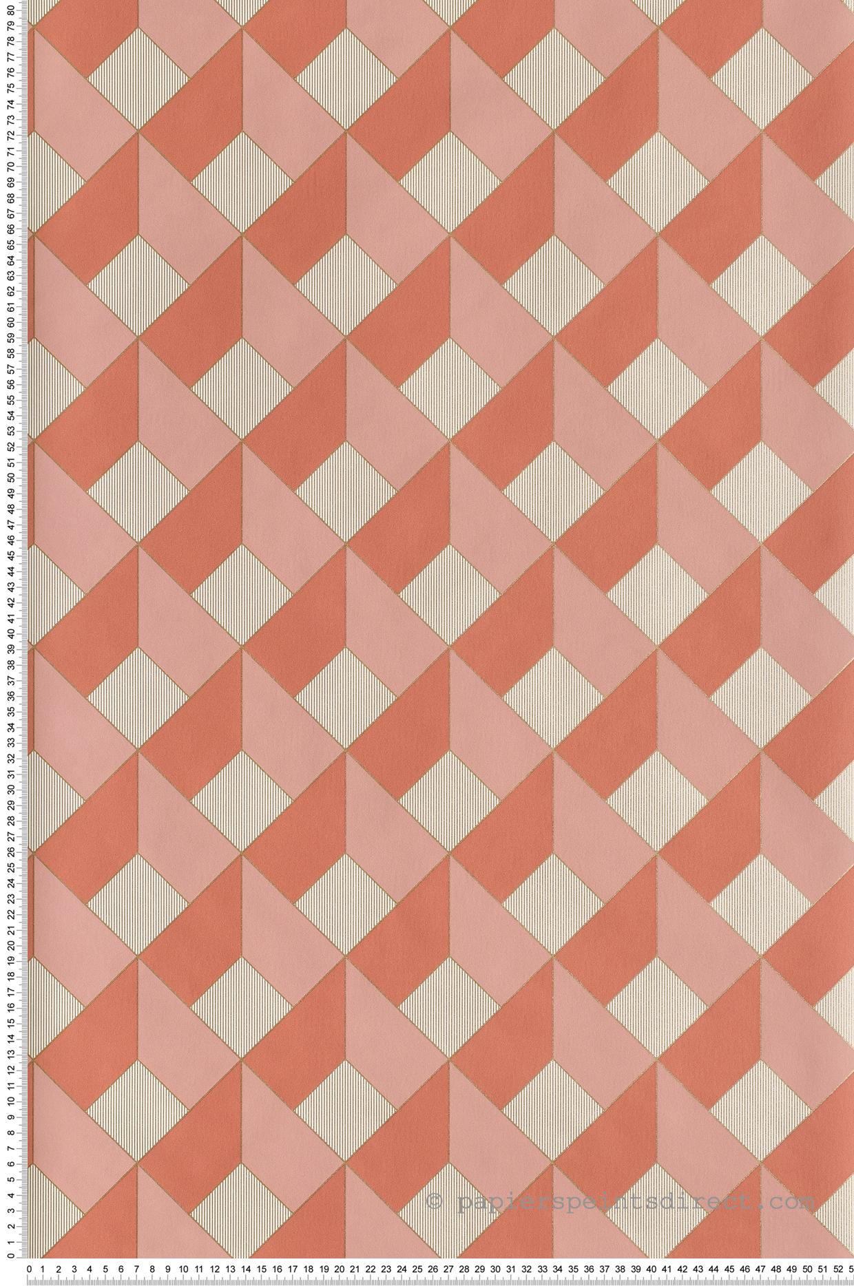 Papier peint Square rose marsala - Spaces de Casélio | Réf. SPA100124135