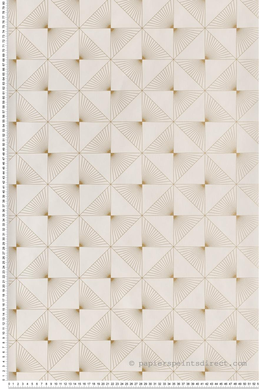 Papier Peint Lines Blanc Or Spaces De Caselio