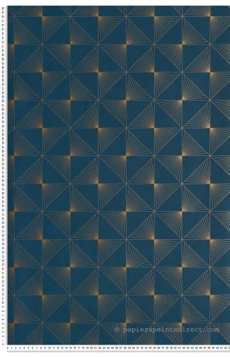 Papier Peint Lines Bleu Canard Spaces De Caselio