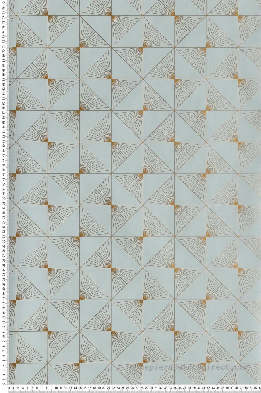 Papier Peint Lines Bleu Or Spaces De Caselio