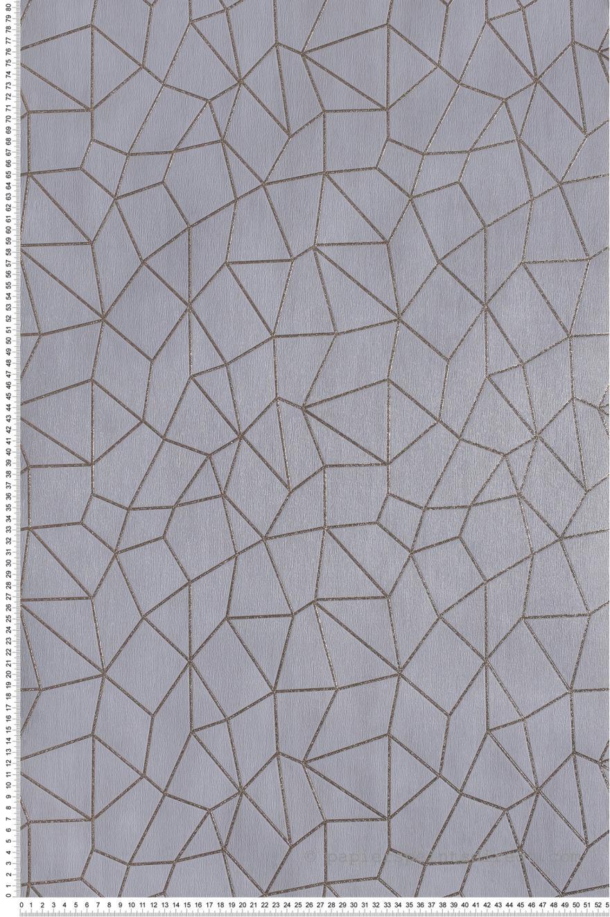 Papier Peint Graphique Chic Gris Special Fx De Lutece