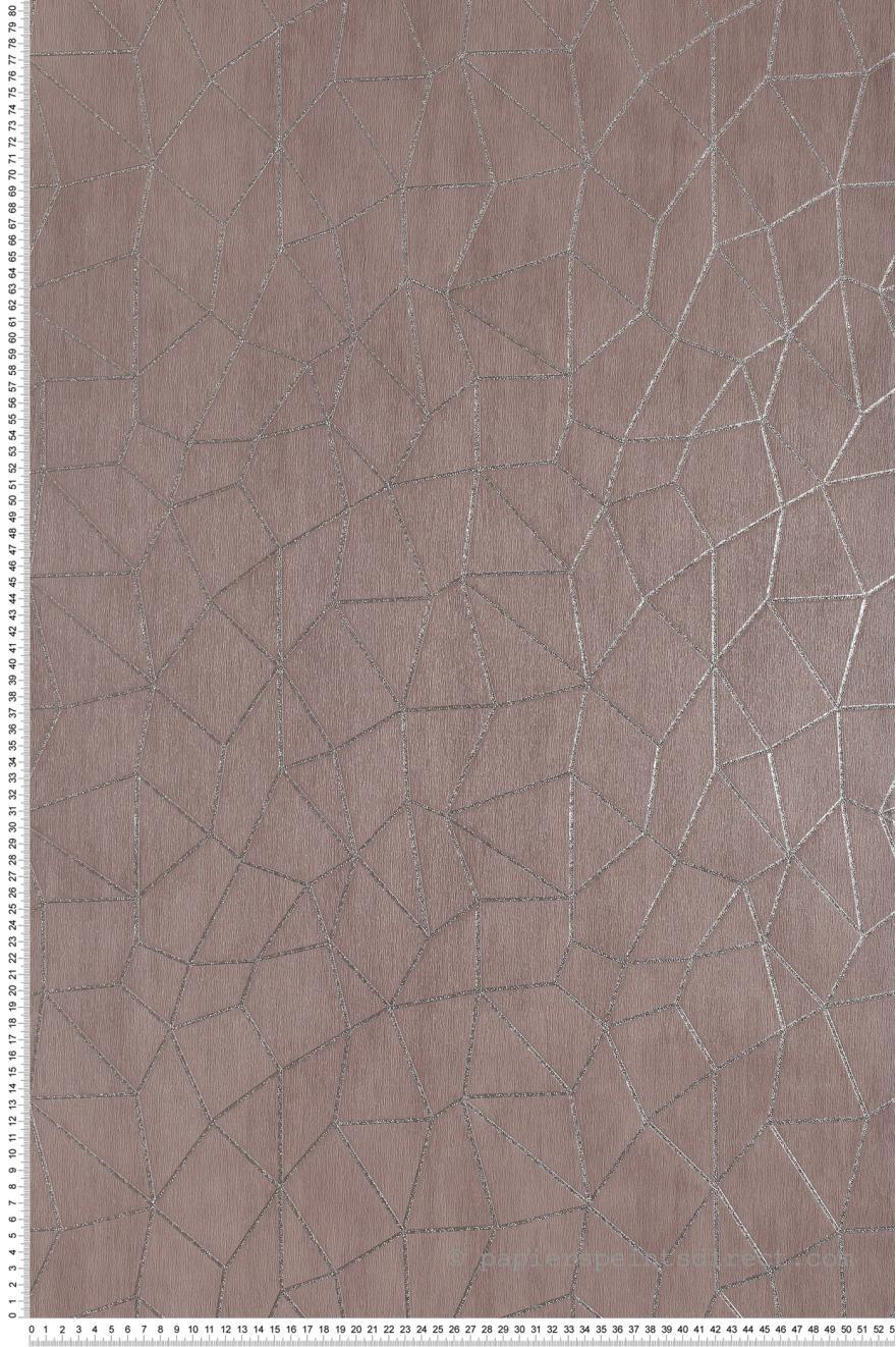 papier peint graphique chic taupe special fx de lut ce. Black Bedroom Furniture Sets. Home Design Ideas