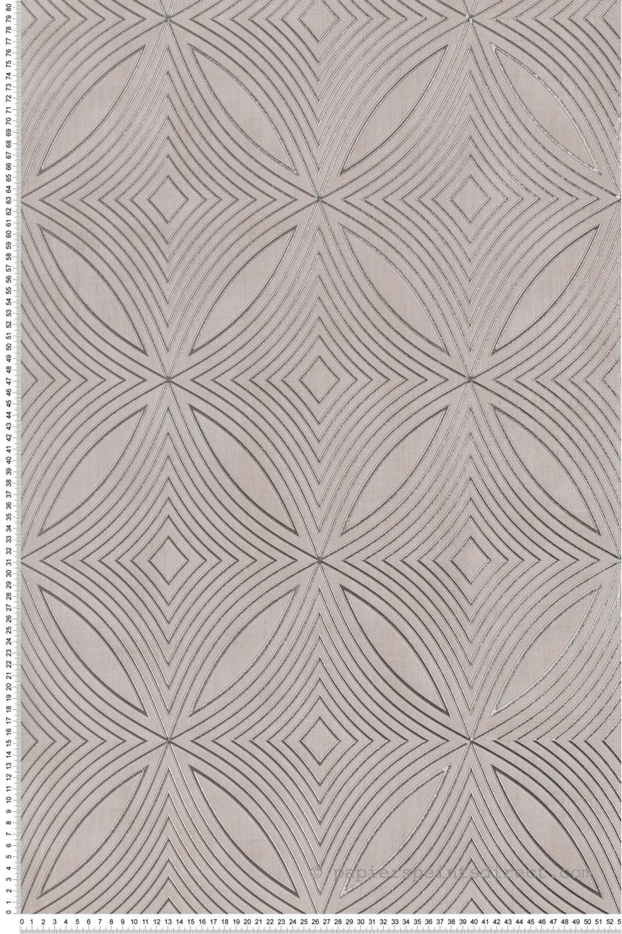 Papier Peint Geometrie Captivante Beige Lin Special Fx De Lutece