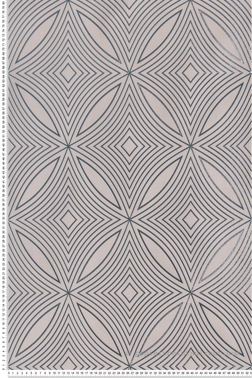 Papier Peint Geometrie Captivante Beige Sable Special Fx De Lutece