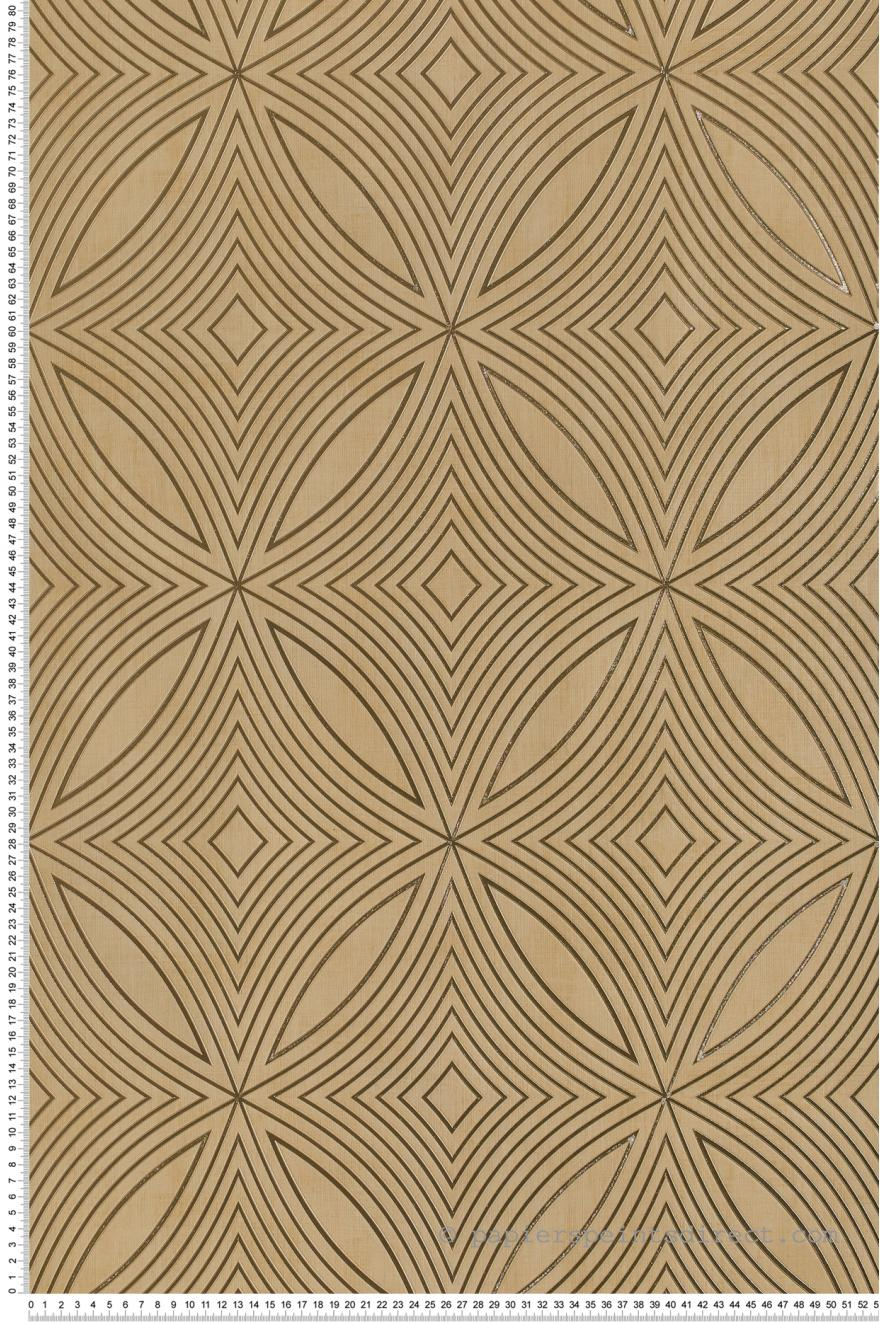 Papier Peint Geometrie Captivante Dore Special Fx De Lutece