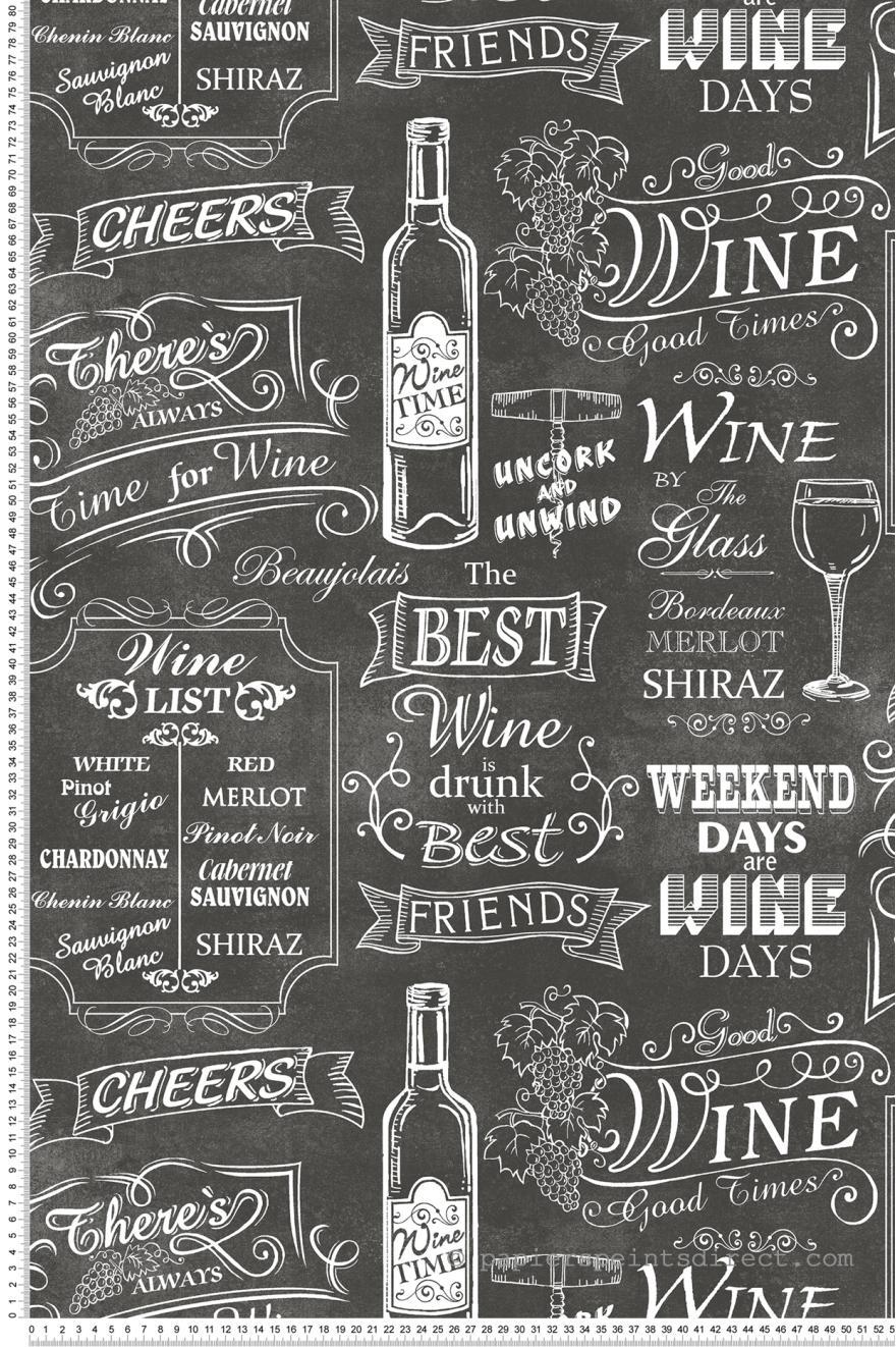Papier Peint Ardoise Des Vins Noir Style Cuisine 3 De Lutece