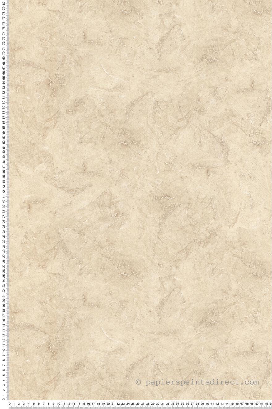Papier peint Tadelakt marbré beige - Style Cuisine 3 de Lutèce