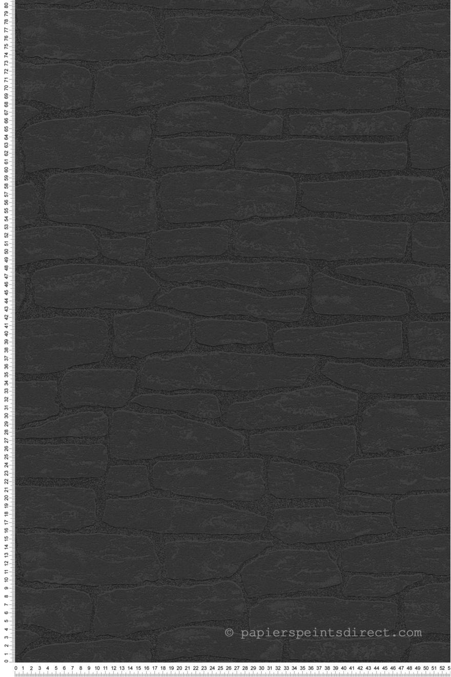 Papier Peint Effet Mur Brique Noir Wood N Stone 2 D As Creation