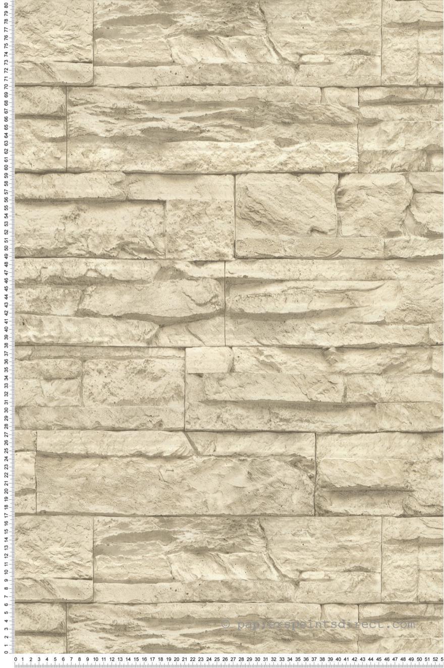 Papier peint Pierre parement beige   Wood N Stone 2 d'AS Création