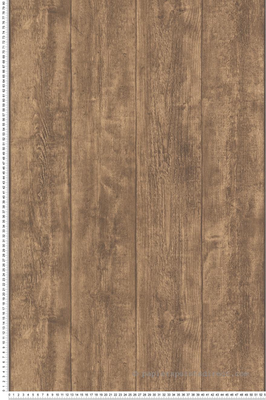 Papier Peint Lambris Bois Marron Wood N Stone 2 D As Creation