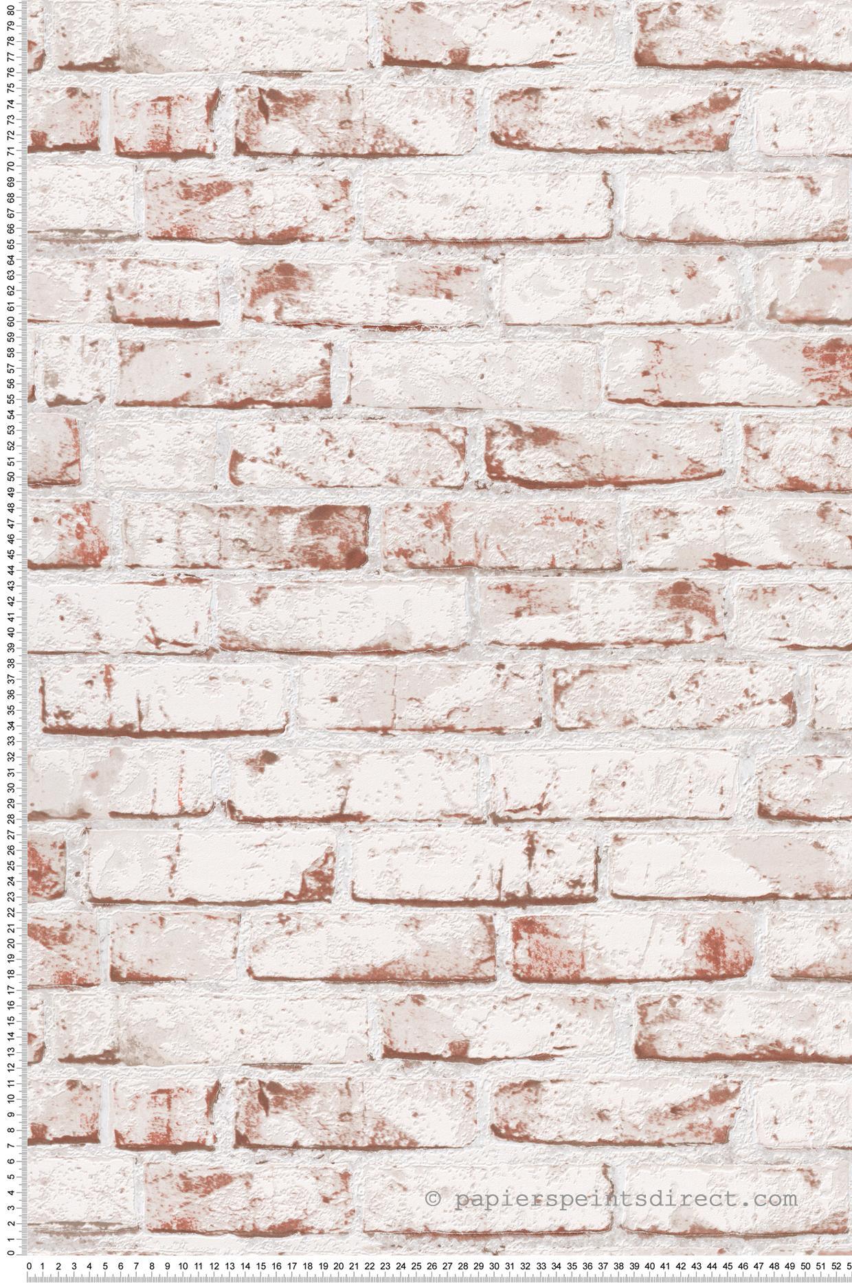 Papier Peint Briques Blanches Et Brique Wood N Stone 2 D As Creation