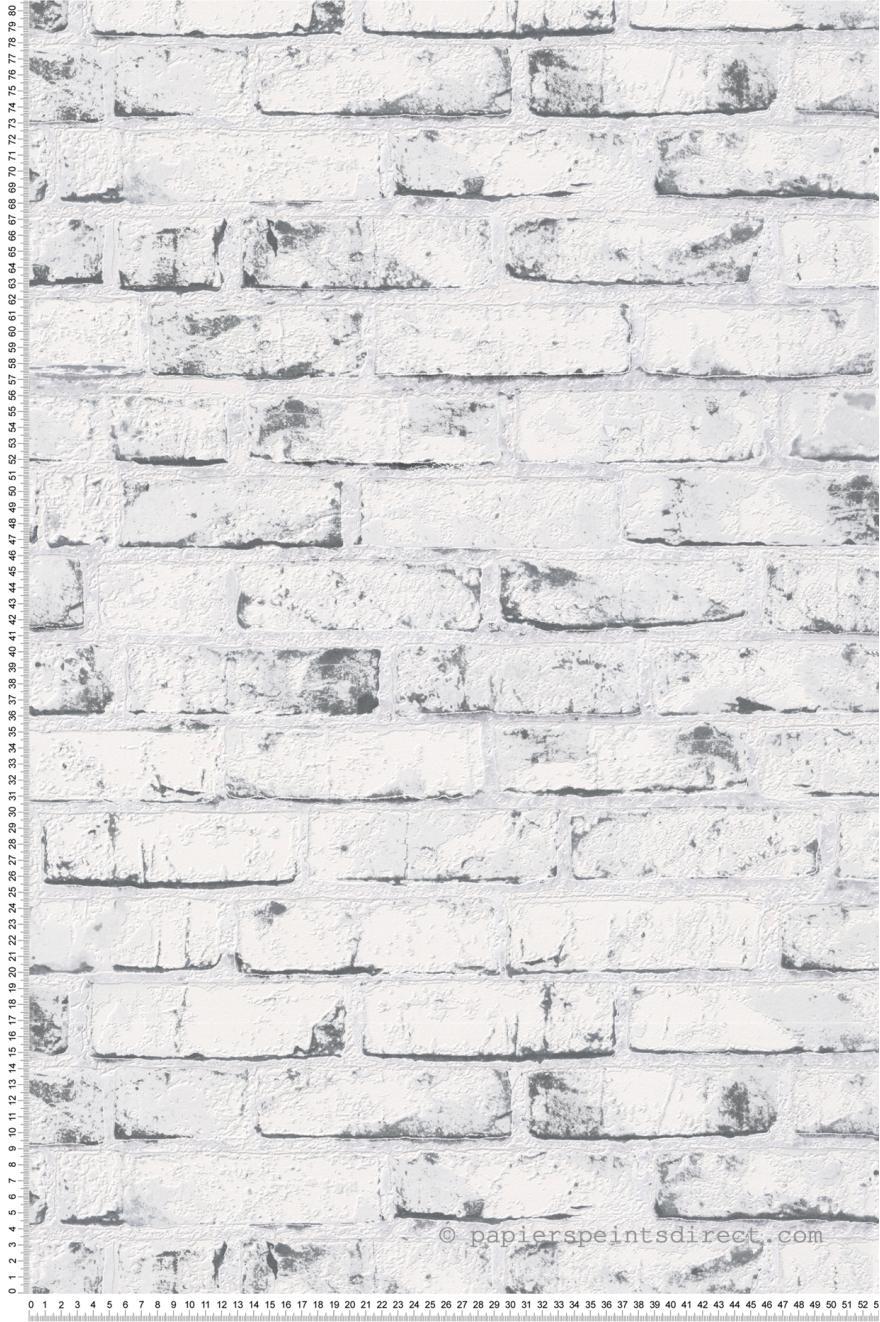 Papier Peint Briques Blanches Et Grises Wood N Stone 2 D As Creation