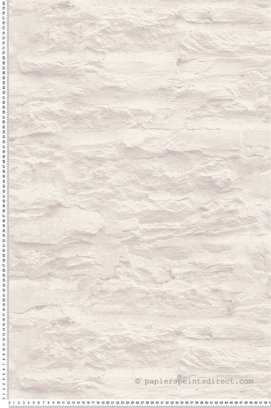 Mur Effet Brique Blanche papier peint pierre blanche - wood n stone 2 d'as création