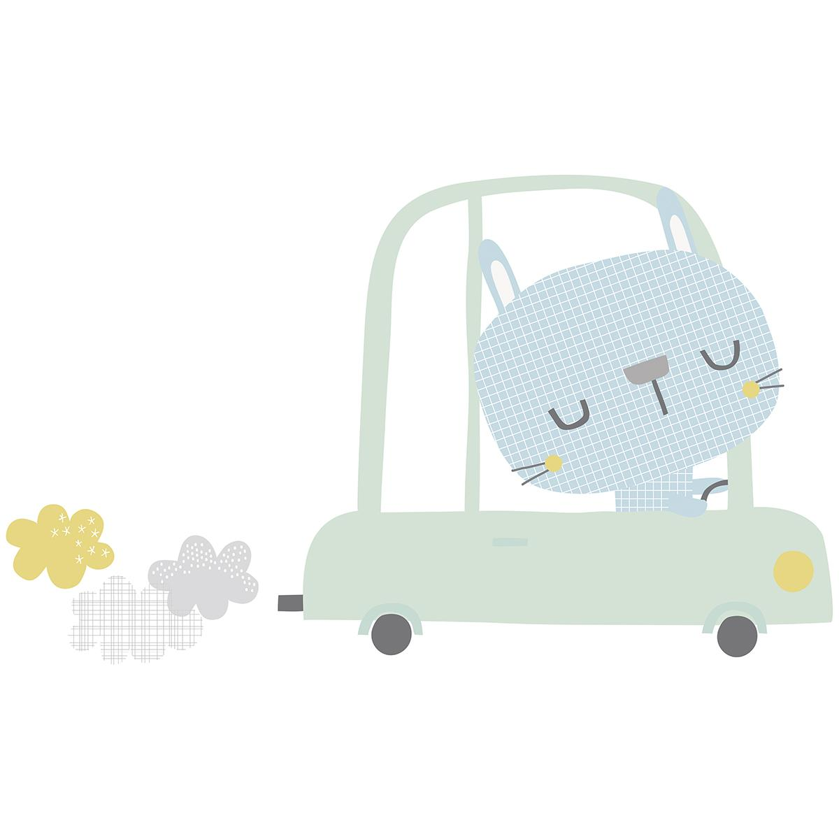 Stickers lapin en voiture - Stickers de Lilipinso