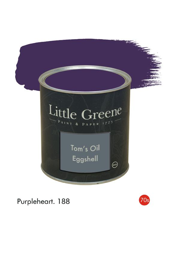 Purpleheart (1970s) n°188. Peinture Tom's Oil Eggshell Little Greene
