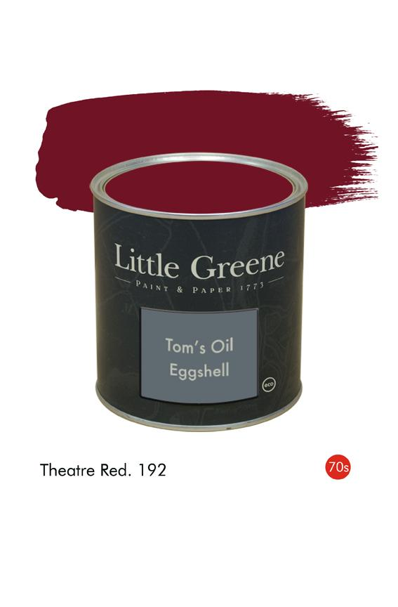 Theatre Red (1970s) n°192. Peinture Tom's Oil Eggshell Little Greene
