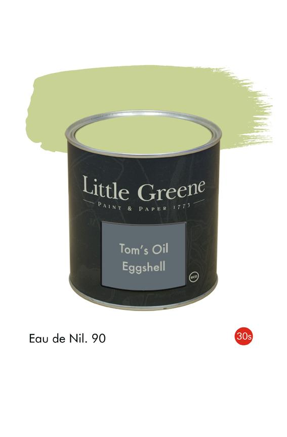 Eau de Nil (1930s) n°90. Peinture Tom's Oil Eggshell Little Greene