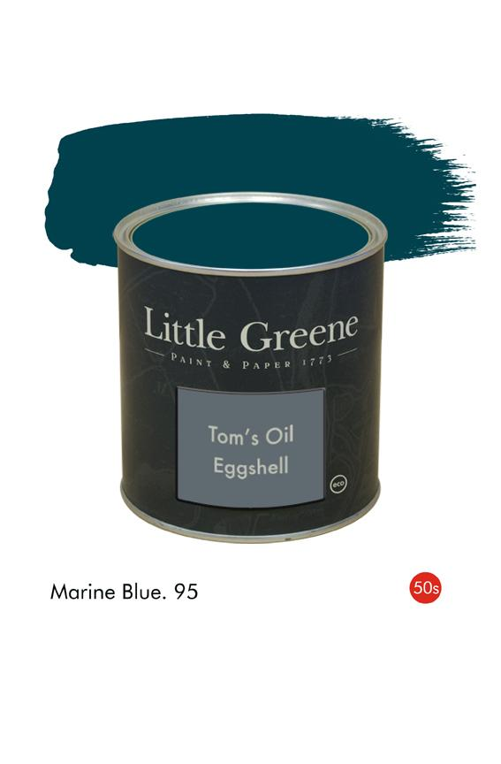 Marine Blue (1950s) n°95. Peinture Tom's Oil Eggshell Little Greene