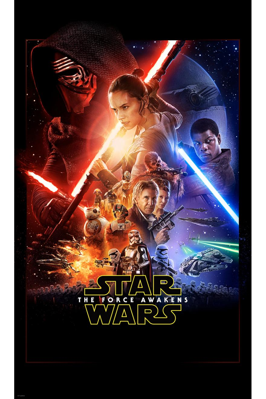 Star Wars Ep7 Official Movie Poster Papier Peint Xxl Komar
