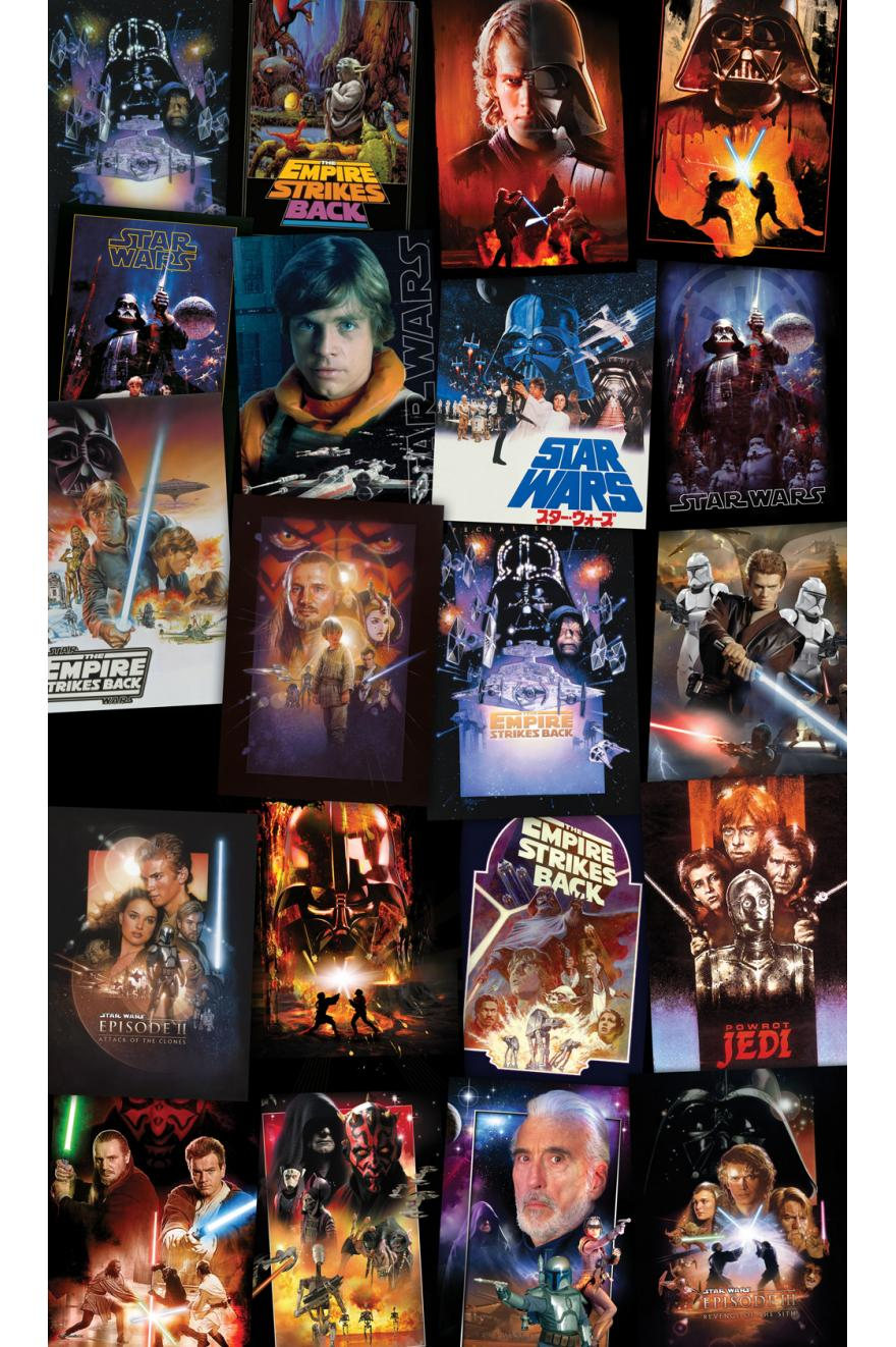 Star Wars Posters Collage Papier Peint Xxl Komar