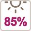Brillant 85% de brillance