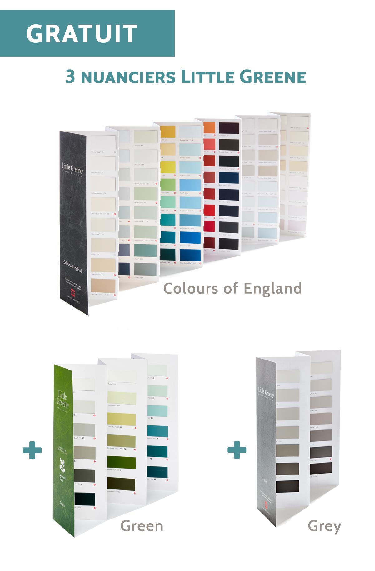 Tous les Nuanciers Little Greene - Colours of England + Grey + Greene