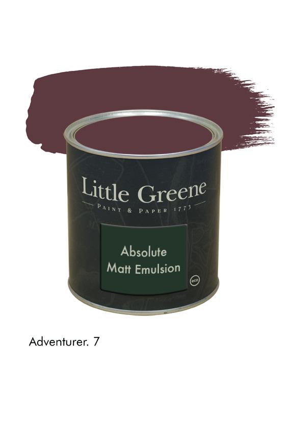 Adventurer n°7. Peinture Absolute Matt Emulsion Little Greene