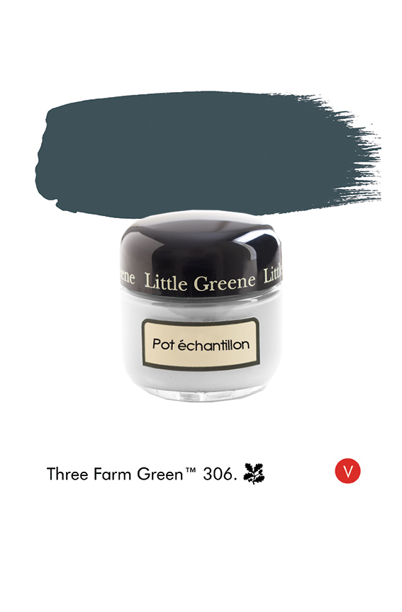 Pot échantillon Three Farm Green n°306  - Finition Absolute Matt Emulsion