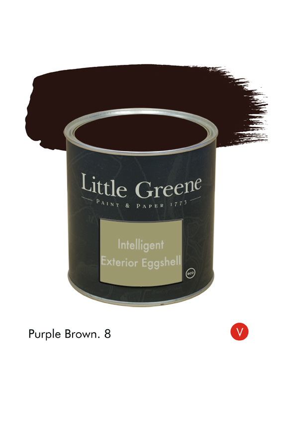 Purple Brown (Victorian) n°8. Peinture Intelligent Exterior Eggshell Little Greene