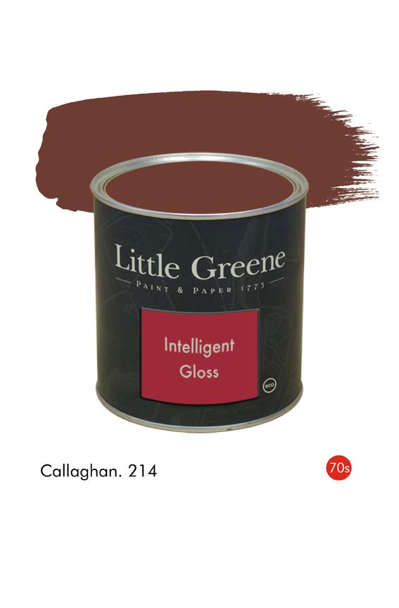 Callaghan (1970s) n°214. Peinture Intelligent Gloss Little Greene
