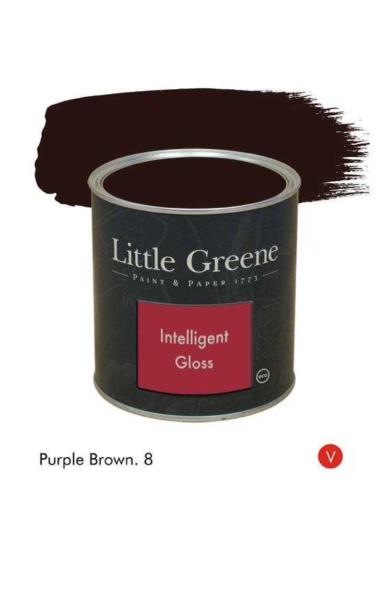 Purple Brown (Victorian) n°8. Peinture Intelligent Gloss Little Greene